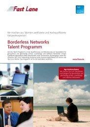Borderless Networks Talent Programm - Fast Lane
