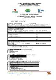 RELATÓRIO PARCIAL TÉCNICO- CIENTÍFICO - fapesc