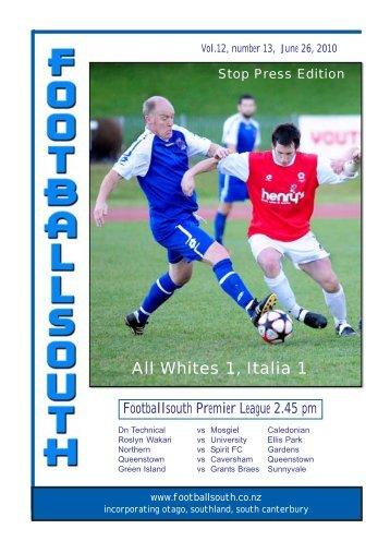 26th June 2010 - Football South