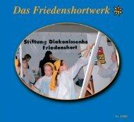 Friedenshort 2/2003 - Evangelische Jugendhilfe Friedenshort