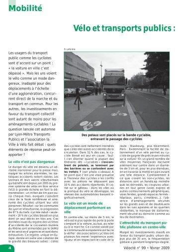 Vélo et transports publics, concurrents ou complices