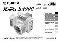 FinePix S3000 Manual