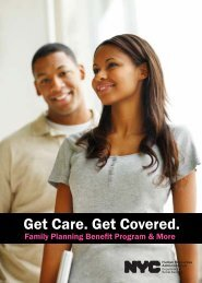 Download the Family Planning Benefit Brochure - NYC.gov