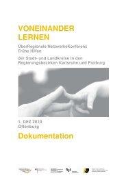 Dokumentation ÜberRegionale NetzwerkeKonferenz Offenburg