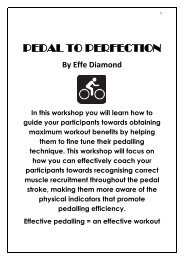 PEDAL TO PERFECTION - Australian Fitness Network