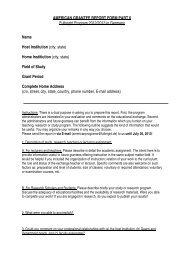 AMERICAN GRANTEE REPORT FORM PART II Fulbright Program ...