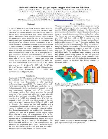 Finfet with isolated n+ and p+ gate regions strapped with ... - Freescale