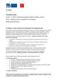 11. lekce Tématický plán: Teorie - Tvorba cvičebních programů ...