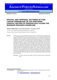 SPATIAL AND TEMPORAL PATTERNS OF FISH LARVAE ...