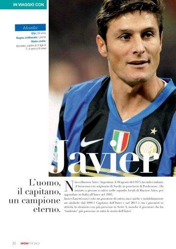 Javier Zanetti L'uomo, il capitano, un campione ... - Frigerio Viaggi