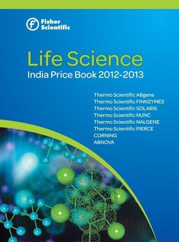 Life Science Price Book 2012-13 - Fisher Scientific: Lab Equipment