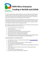RDPE Micro Enterprise Funding in Norfolk and Suffolk