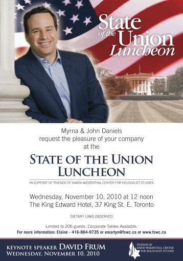 Luncheon - Friends of Simon Wiesenthal Center For Holocaust ...