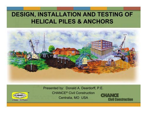 design, installation and testing of helical piles & anchors