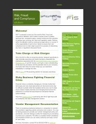 FIS Risk, Fraud and Compliance eBulletin