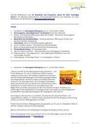 """Herzlich Willkommen zum 20. Newsletter des Programms """"Ideen für ..."""