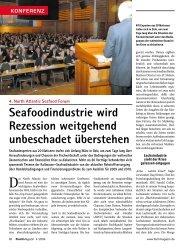 Seafoodindustrie wird Rezession weitgehend ... - Fischmagazin.de