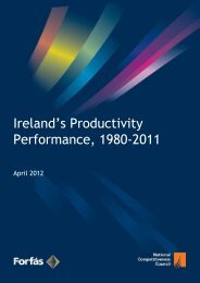 Ireland's Productivity Performance, 1980-2011 - Forfás