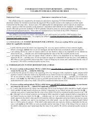 usm request for tuition remission – affidavit - Frostburg State University