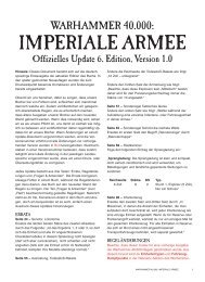 IMPERIALE ARMEE - Games Workshop