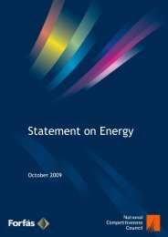 NCC Statement on Energy - The National Competitiveness Council