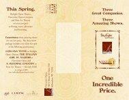 One Incredible Price. - Florentine Opera