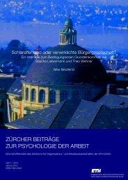 Schlaraffenland oder verwirklichte ... - PdA - ETH Zürich