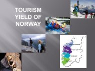 TOURISM YIELD OF NORWAY - Fjord Norway