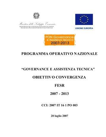 PON Governance e Assistenza Tecnica - Dipartimento Funzione ...