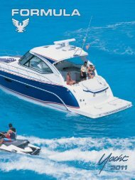 45 yacht specifications - Formula Boats