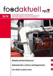Robotik auf dem Vormarsch Automatischer ... - Foodaktuell.ch