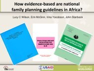 How evidence-based are national family planning guidelines in ...