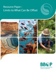 Limits to What Can Be Offset - Forest Trends