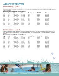 aquatics programs - Freeport Park District
