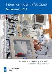 Intensivmedizin BASICplus - Fortbildung - UniversitätsSpital Zürich