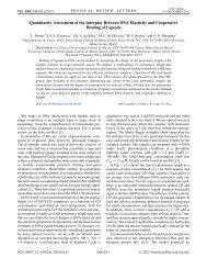 Quantitative Assessment of the Interplay Between DNA Elasticity ...