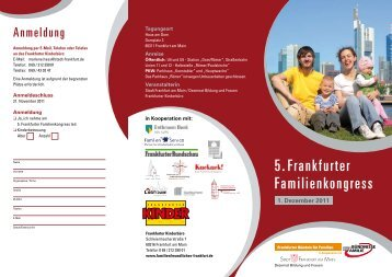 5. Frankfurter Familienkongress - Frankfurter Bündnis für Familien