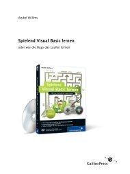 Spielend Visual Basic lernen - Galileo Computing