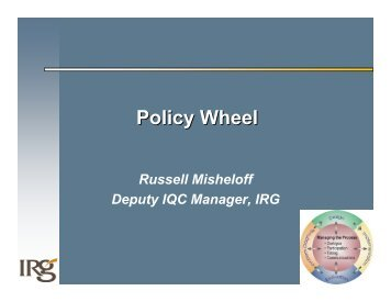 Policy Wheel - Russell Misheloff - Fiscal Reform