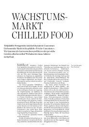 Wachstums- markt chilled Food - Hotel & Gastro Union