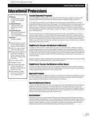 COE Programs - Frostburg State University