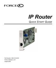 IP Router Quick Start Guide - Force10 Networks