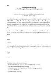 Verwaltungsvorschriften zur Ausführung des ...