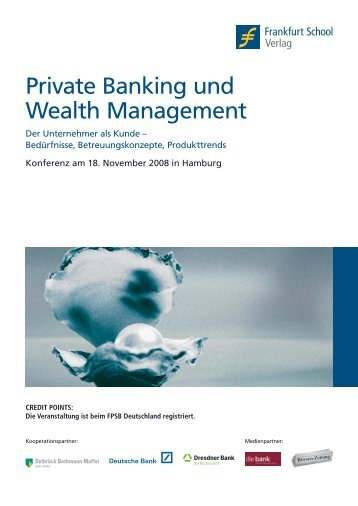 Private Banking und Wealth Management - Frankfurt School Verlag
