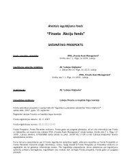 Finasta Akciju fonds - FKTK