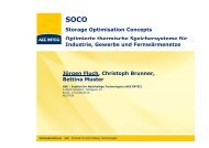 Storage Optimisation Concepts Optimierte thermische ...