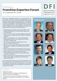 Franchise-Experten-Forum - Deutsches Franchise Institut GmbH
