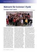 Fysikaktuellt September 2003, Kvinnor i fysik - Svenska ... - Page 6