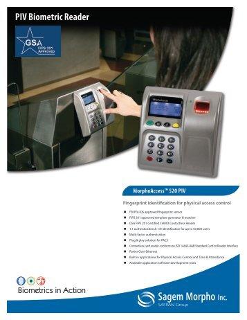 PIV Biometric Reader - Galaxy Control Systems