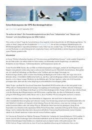 Zukunftskongress der SPD-Bundestagsfraktion - Fortschrittsforum